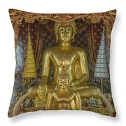 Wat Chai Monkol Phra Ubosot Buddha Images Dthcm0849 Throw Pillow