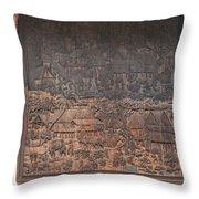 Wat Chai Monkol Phra Ubosot Diorama Of Village Life Dthcm0856 Throw Pillow
