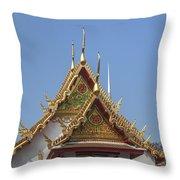 Wat Chumphon Nikayaram Phra Ubosot Gables Dtha0125 Throw Pillow