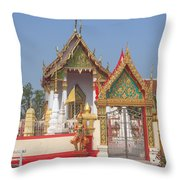 Wat Kampaeng Phra Ubosot And Gate Dtha0142 Throw Pillow