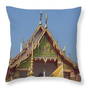 Wat Kampaeng Phra Ubosot Gable Dtha0143 Throw Pillow