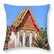 Wat Khong Chiam Ubosot Dthu085 Throw Pillow