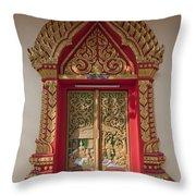 Wat Liab Ubosot Center Door Dthu349 Throw Pillow