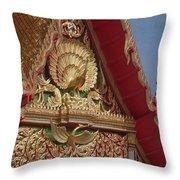 Wat Luang Pu Supa Ubosot Gable Dthp330 Throw Pillow