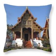 Wat Phra Singh Phra Ubosot Dthcm0246 Throw Pillow