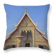 Wat Phra Singh Phra Wihan Luang Gable Dthcm0238 Throw Pillow