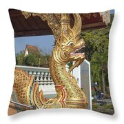 Wat Phra Singh Phra Wihan Luang Naga Dthcm0240 Throw Pillow