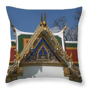 Wat Phrasri Mahathat Ubosot North Wing Gable Dthb1469 Throw Pillow