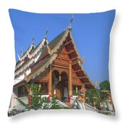 Wat Phuak Hong Phra Wihan Dthcm0581 Throw Pillow