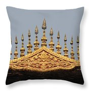 Wat Roof Detail Throw Pillow