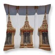 Wat Sapum Thammaram Ubosot Windows Dthp227 Throw Pillow