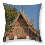Wat Sri Don Chai Phra Ubosot Gable Dthcm0095 Throw Pillow