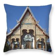 Wat Sri Don Chai Phra Wiharn Dthcm0084 Throw Pillow