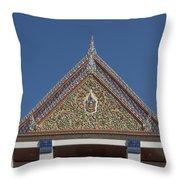 Wat Thewasunthon Preaching Hall Gable Dthb1423 Throw Pillow