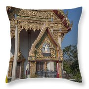 Wat Thewasunthon Ubosot Gate Dthb1420 Throw Pillow