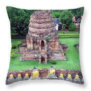 Wat Yai Chai Mongkol Throw Pillow