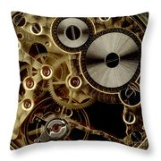 Watch Mechanism. Close-up Throw Pillow by Bernard Jaubert