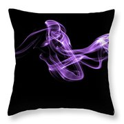 Watch The Flow - Purple Throw Pillow