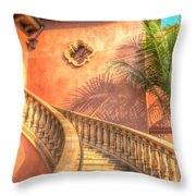 Watch Your Step And Welcome Throw Pillow