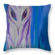 Watcher In The Blue Throw Pillow