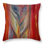 Watcher In The Red Throw Pillow