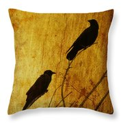 Watchers Of The East And West Throw Pillow