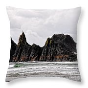 Watchful Eye Of Seal Rock Throw Pillow
