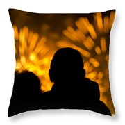Watching Fireworks Throw Pillow