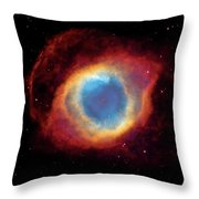 Watching - Helix Nebula Throw Pillow by Jennifer Rondinelli Reilly - Fine Art Photography