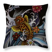 Watching Over Natilius Throw Pillow by Maria Arango