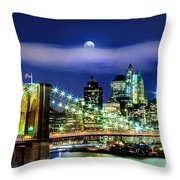Watching Over New York Throw Pillow