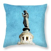 Watching Over The Plaza Throw Pillow