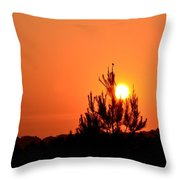 Watching The Sun Rise Throw Pillow