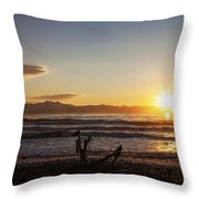 Watching The Sunset With Friends Throw Pillow