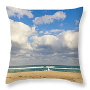Watching The Waves Throw Pillow