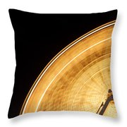 Watching The Wheel Go Round Throw Pillow