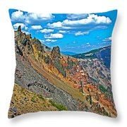 Watchman Overlook In Crater Lake National Park-oregon Throw Pillow