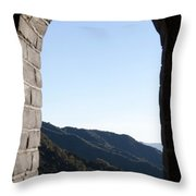 Watchtower View From The Great Wall 1082 Throw Pillow
