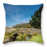 Watendlath Stone Footbridge Vertical Throw Pillow