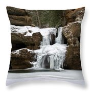 Water And Ice Flow Throw Pillow