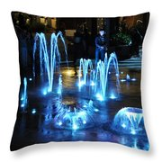 Water And Ligths Throw Pillow