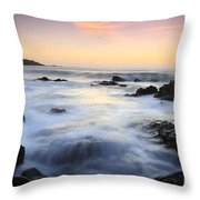 Water And The Sunset Throw Pillow