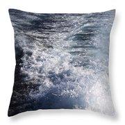 Water Behind A Ship Throw Pillow