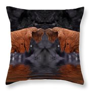 Water Blessing Throw Pillow