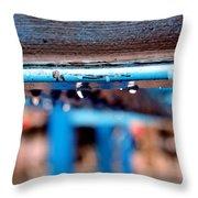 Water Blue  Throw Pillow