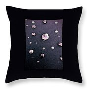Water Bubble Relections Throw Pillow