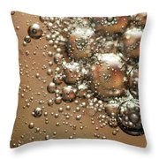 Water Bubbles Abstraction Throw Pillow