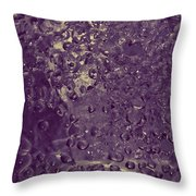 Water Bubbles Purple Throw Pillow