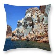 Water Canyon II Throw Pillow