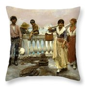 Water Carriers. Venice Throw Pillow